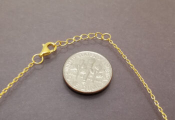 clasp for necklace with dime for scale