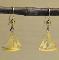 Sienna Sky goldtone sailboat earrings