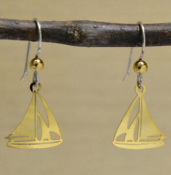 Sienna Sky goldtone sailboat earrings