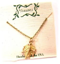 Michael Michaud Seasons grape leaf necklace