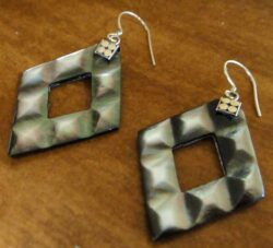 gray mother of pearl earrings