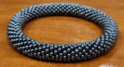 gray seed bead bracelet