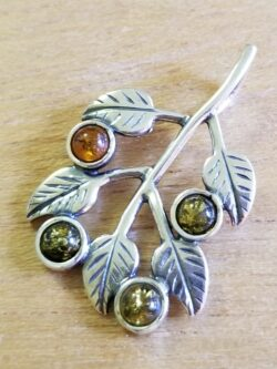 green and honey branch amber pendant