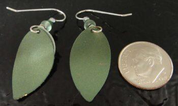 back of green Adajio earrings