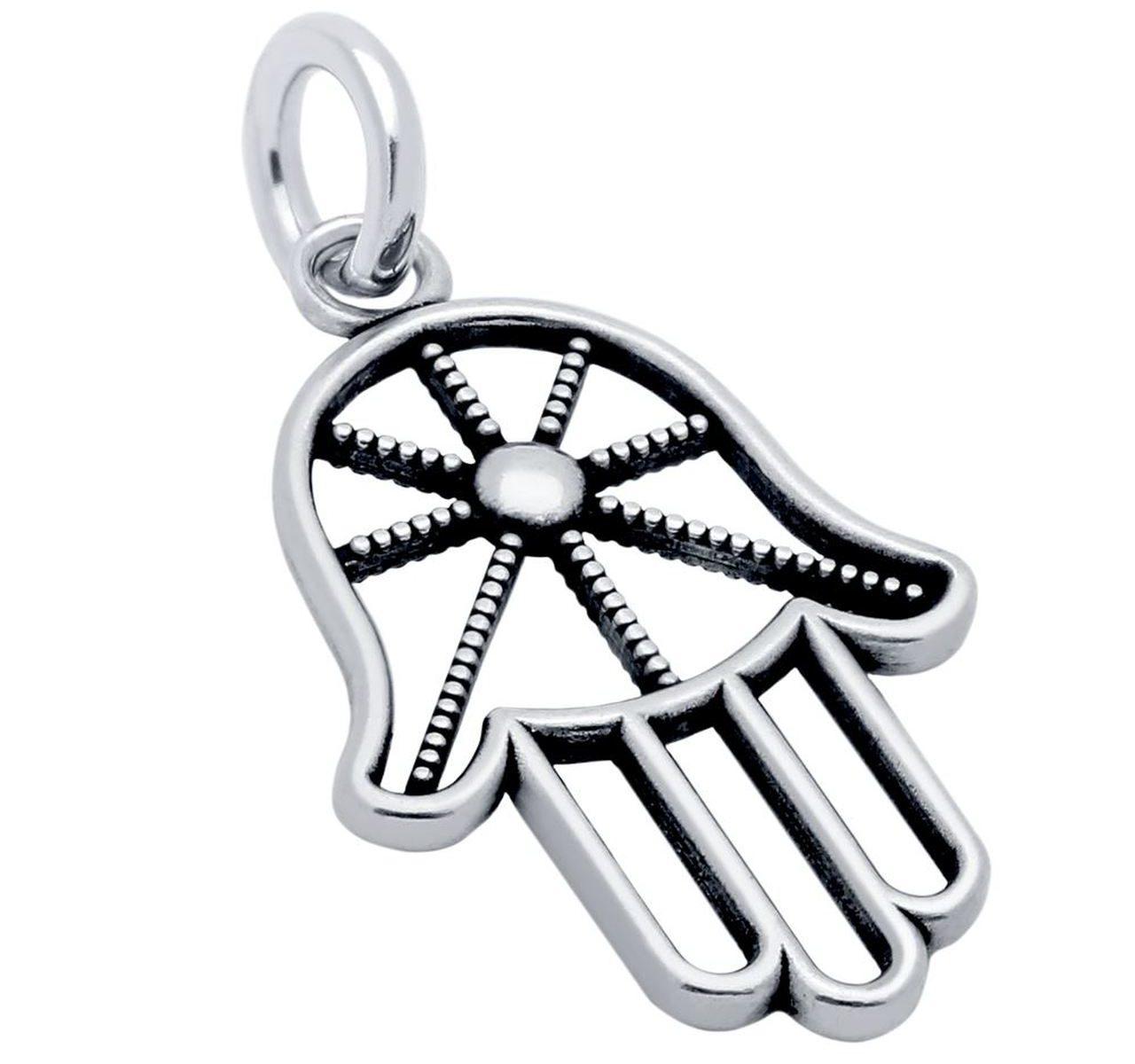 hamsa hand sterling silver charm