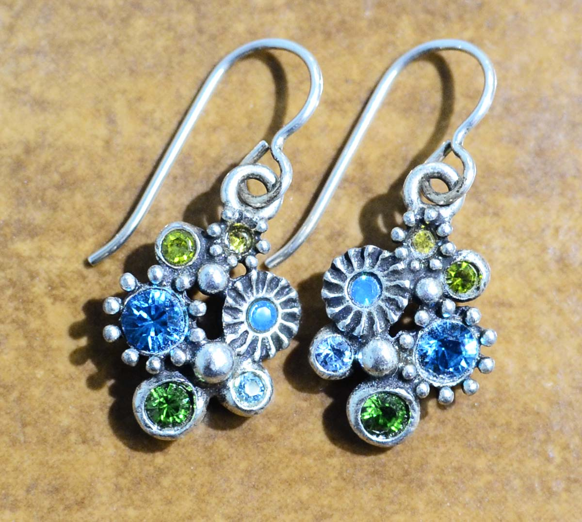 "Hana silver tone earrings in color palette ""Surf"" by Patricia Locke"