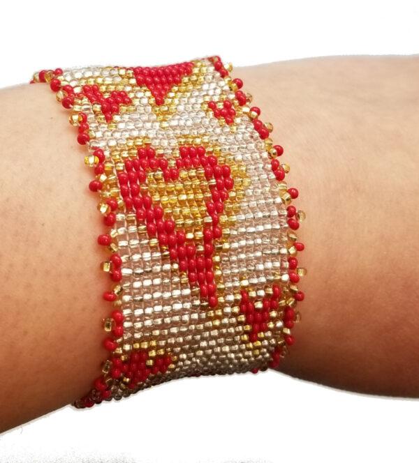 heart bracelet on wrist
