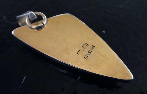 back of hemimorphite pendant