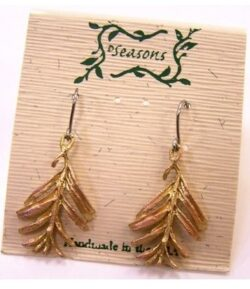 Michael Michaud Seasons Hemlock leaf earrings