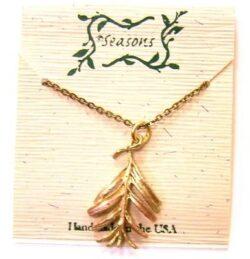 Michael Michaud Seasons hemlock leaf necklace