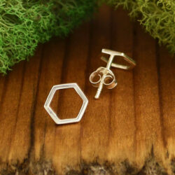 honeycomb post earrings
