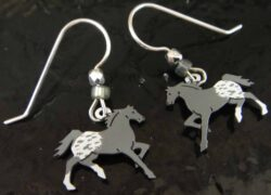 gray horse earrings by Sienna Sky