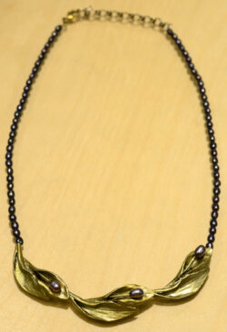 Michael Michaud Hosta centerpiece necklace