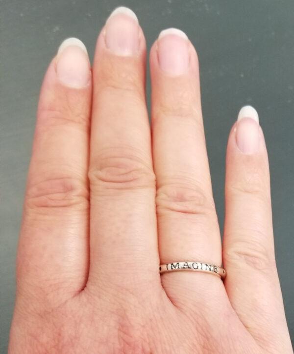 imagine sterling silver ring