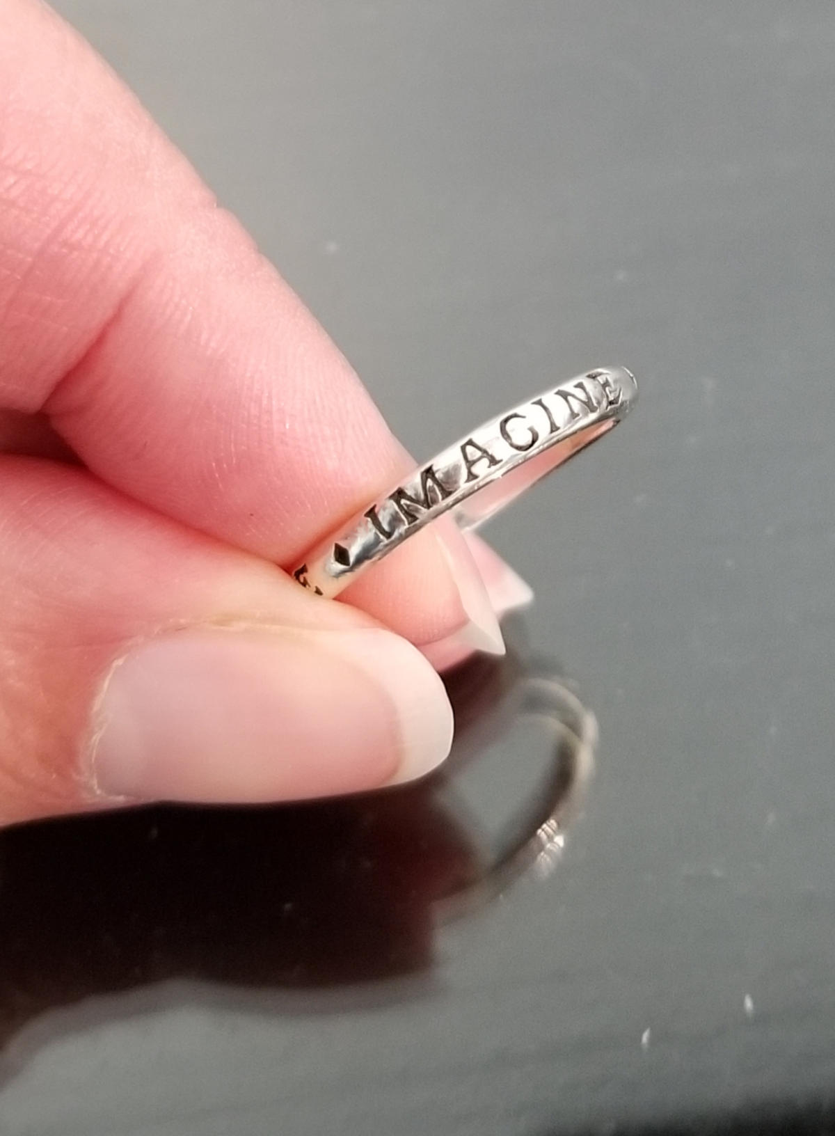 imagine sterling silver ring size 7