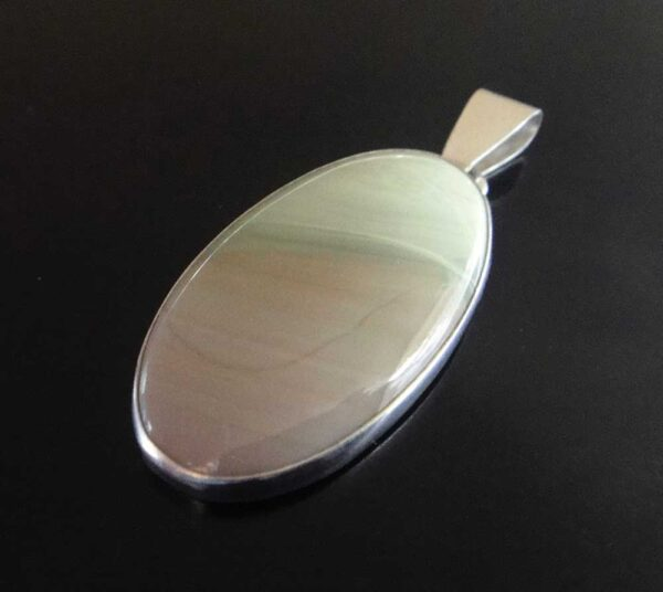 Imperial jasper and sterling silver pendant handmade by Dale Repp in Lone Tree, Iowa