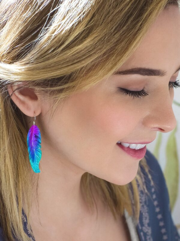 feather earrings from Holly Yashi