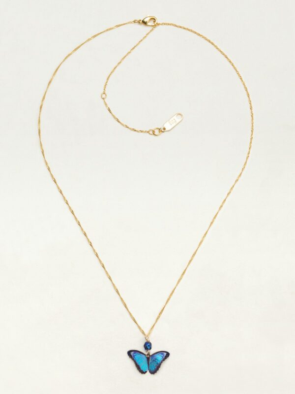 blue butterfly necklace by jewelry designer Holly Yashi