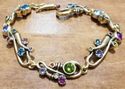 "Ingenue style gold tone bracelet in color palette ""Fling"" by Patricia Locke"
