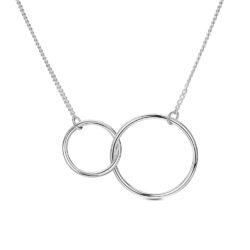 interlocking circles necklaces