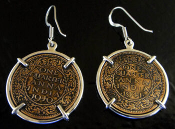 back of King George IV coin earrings