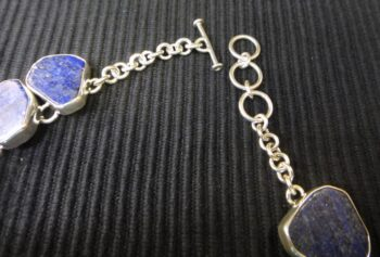 clasp of King Tut bust and lapis lazuli necklace