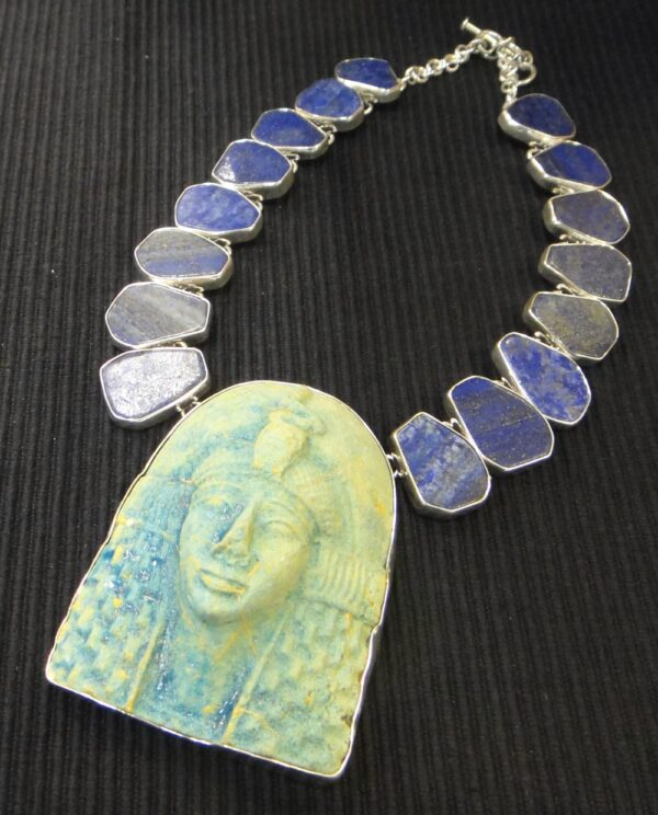 King Tut and lapis lazuli necklace