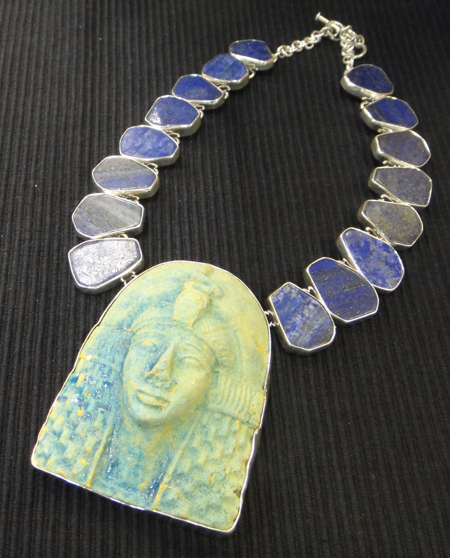 King Tut and lapis lazuli necklace