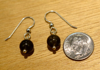 labradorite beaded earrings with dime