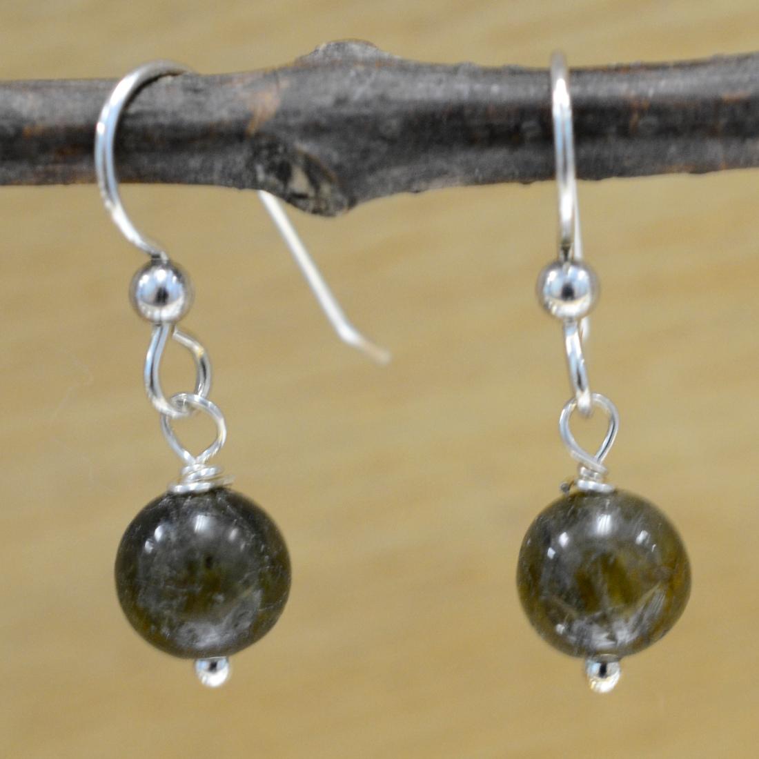 handmade labradorite and sterling silver earrings