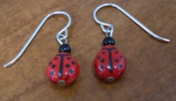 red and black ladybug bead Sienna Sky earrings