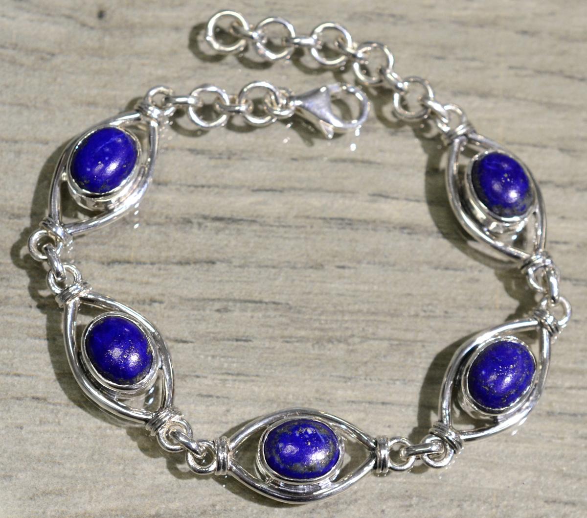 handmade blue lapis lazuli bracelet
