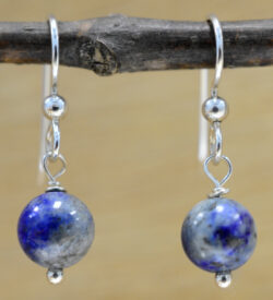 handmade Lapis Lazuli dangle beaded earrings