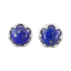 lapis lazuli petite natural stone post earrings