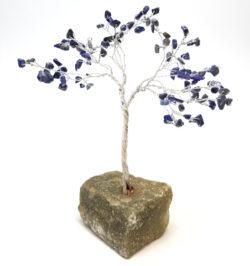 dark blue lapis lazuli gemstone tree sculpture