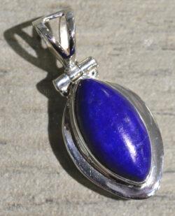 marquise shaped lapis lazuli pendant