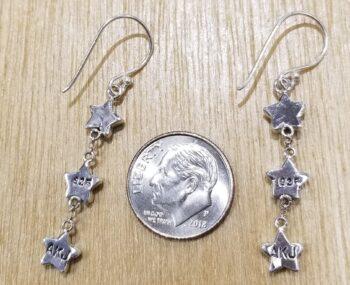 back of lapis star earrings