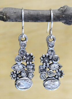 "Lara earrings in color ""All Crystal"" by Patricia Locke"