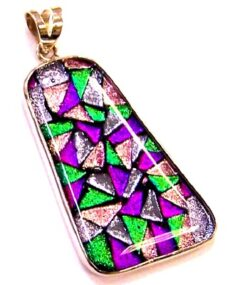Dichroic glass jewelry