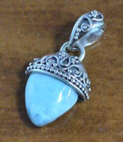 larimar sterling silver pendant