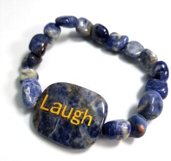 laugh soldalite gemstone stretch bracelet