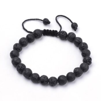 lava rock adjustable closure bracelet