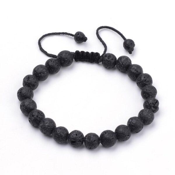 lava rock adjustable closure bracelet