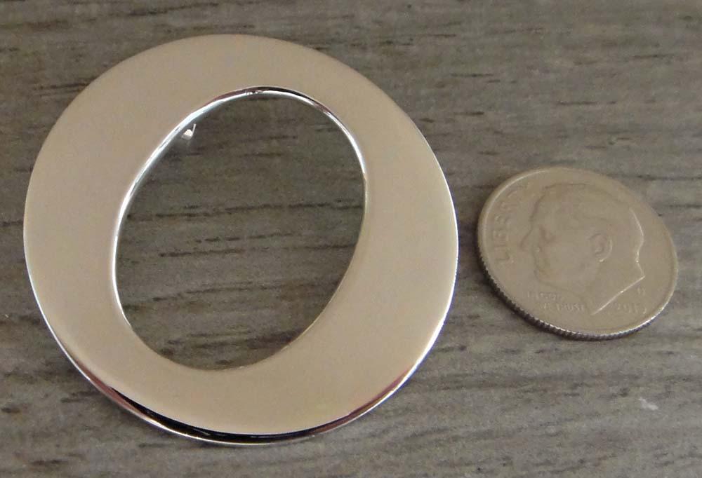 Handmade sterling silver open circle pendant