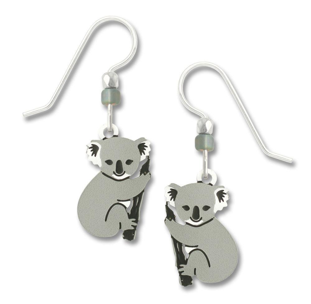 Koala Bear earrings with sterling silver ear-wires