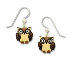 brown owl earrings by SIenna Sky