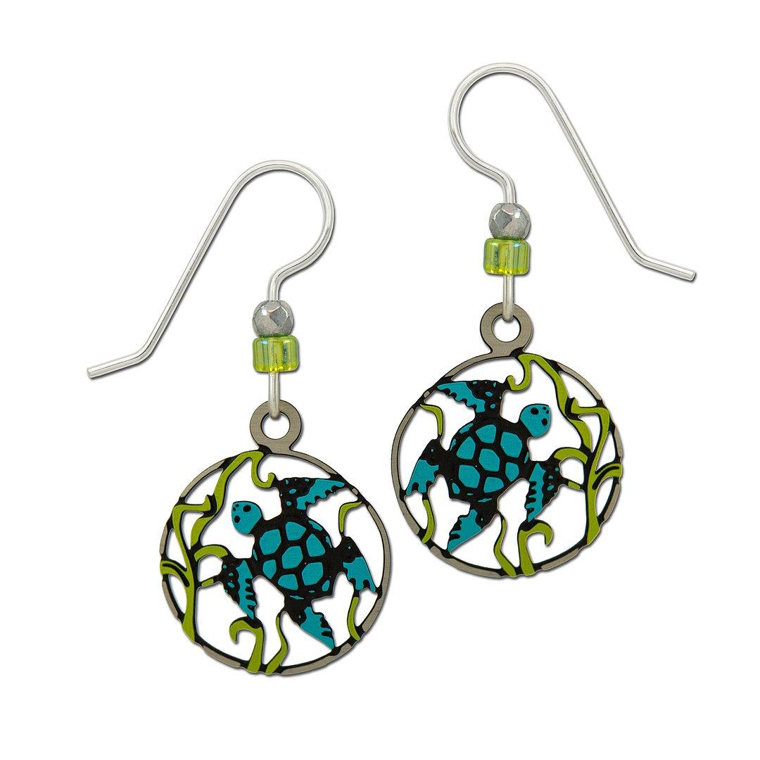 Swimming Sea Turtle earrings by Sienna Sky