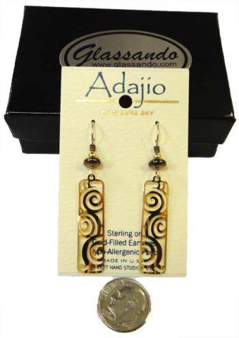 Goldtone swirl earrings by Barbara MacCambridge