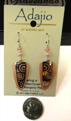Adajio light pink dangle earrings by Barbara MacCambridge