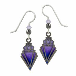 purple art deco inspired earrings by Adajio
